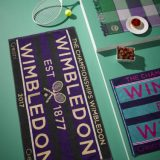 A set of Wimbledon towels at a picnic