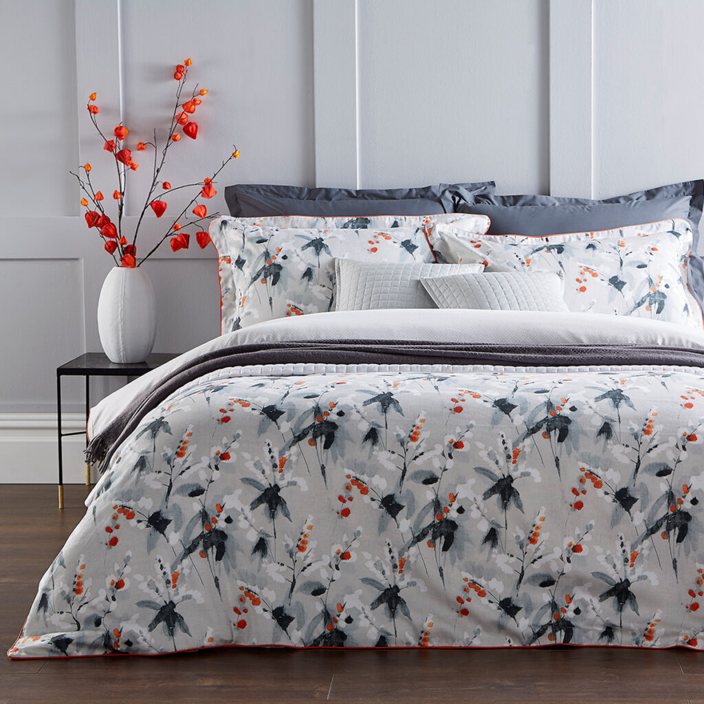 Christy Nina Bed Linen in Coral