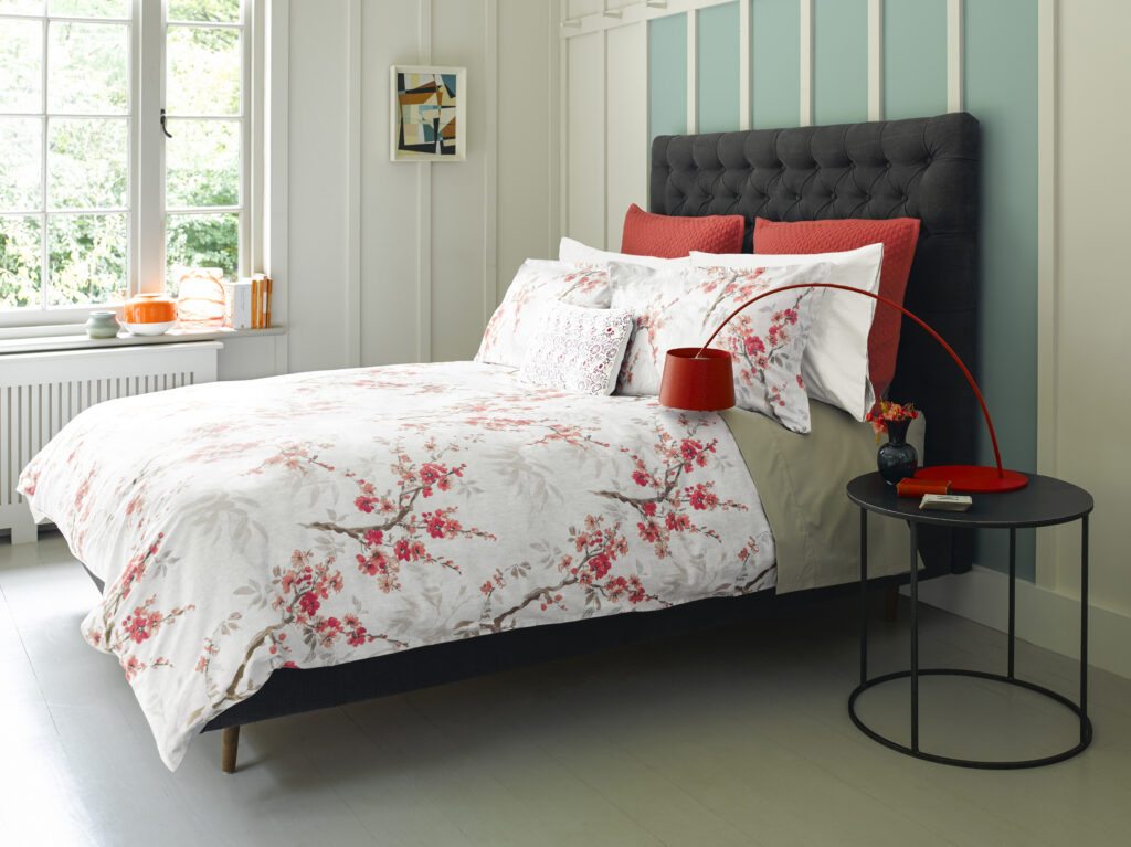Christy Osaka Bed Linen in Coral