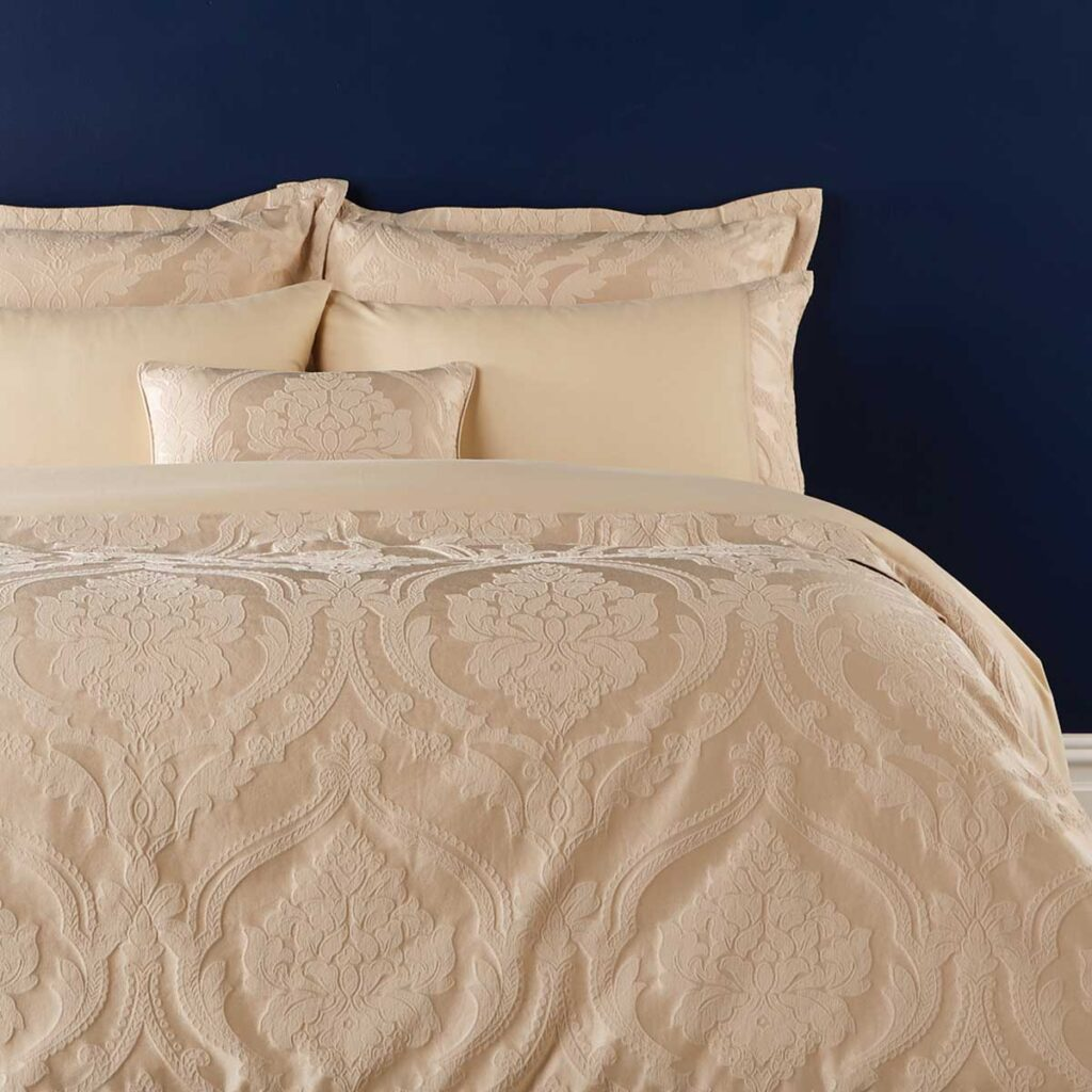 Christy Rochester Bed Linen in Pale Gold