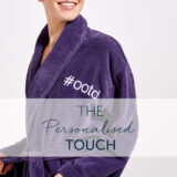 personalised bath robe towels
